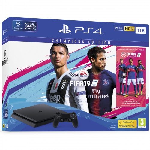 PS4 Slim 1TB + FIFA 19 Champions Edition