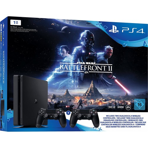 PS4 Slim 1TB + Star Wars Battlefront II + lisapult