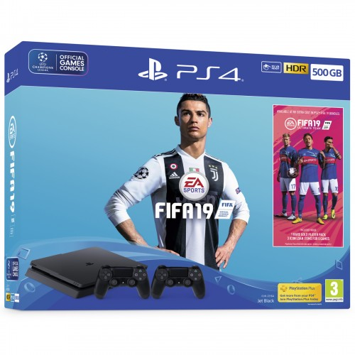 PS4 Slim + FIFA 19 + lisapult