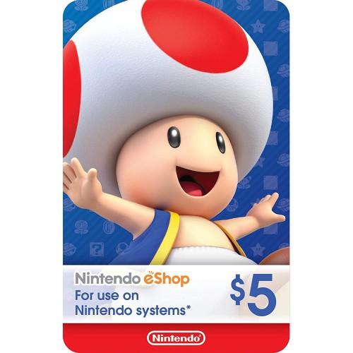 Nintendo eShop 5$