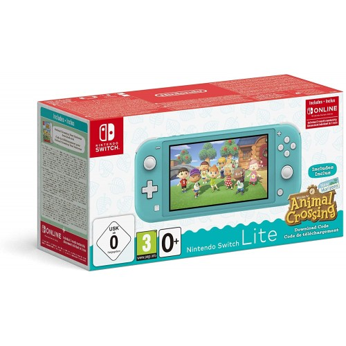 Switch Lite türkiis + Animal Crossing New Horizons