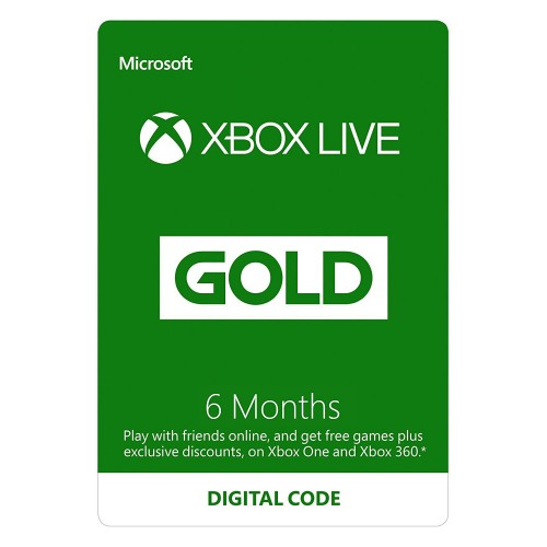 Xbox LIVE kuldkaart - 6 kuud
