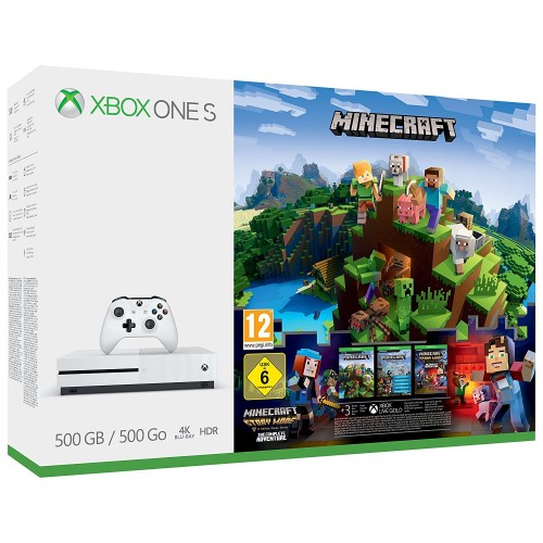 Xbox One S - Minecraft Complete Adventure Bundle