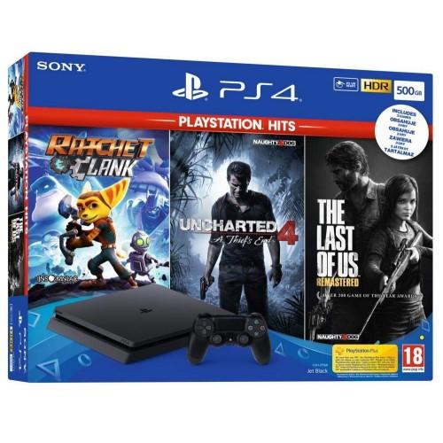 PS4 + 3 mängud